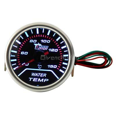 "Digital 52mm 2"" LED Auto Car Water Temp Gauge Temperature Meter With Sensor"