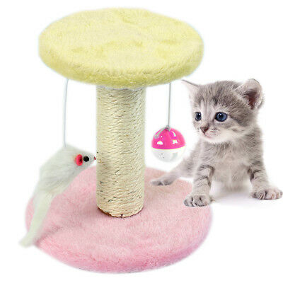 Super DIY Plush Sisal Covered Cat Game Furniture Kitten Claw Care Grooming Toys