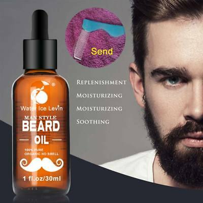 30ml Men Beard Oil for Styling Smoothing Mustache Growth Care Conditioner Soften