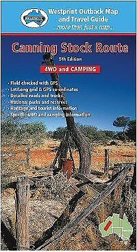 Canning Stock Route 4WD and Camping - Westprint Outback Map