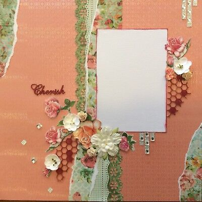 handmade scrapbook page 12 X 12 Cherish Themed Layout