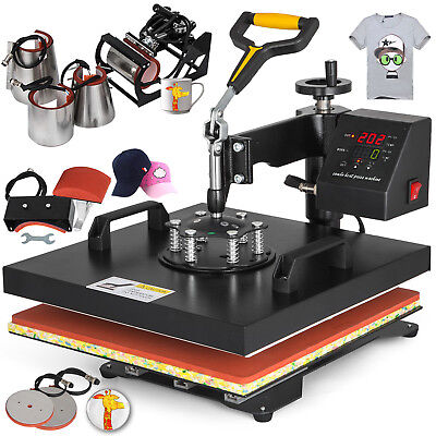 """15""""x15"""" T-Shirt Heat Press Transfer 8IN1 Combo Sublimation DIY Printer  NEWEST"""