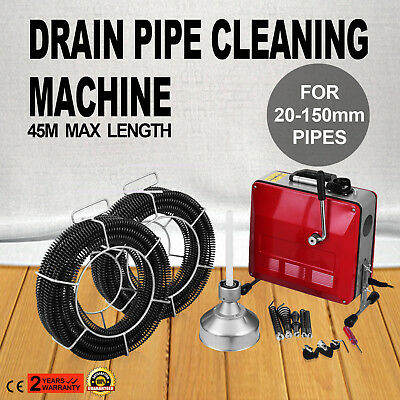 20-150mm Ø Pipe Drain Cleaner Machine Cleaning Commercial Accessories Tools Easy