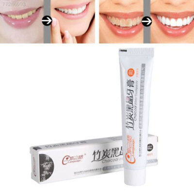 C61E 1PCS Natural Bamboo Black Charcoal Toothpaste Whitening Oral Hygiene All-Pu