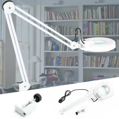 Desk Magnifier Magnifying Lamp Light Skincare Beauty Nail Manicure Tattoo UK
