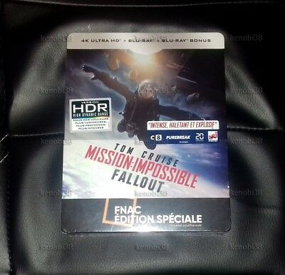 Mission Impossible Fallout Blu-ray Steelbook 4K+2D Fnac Exclusive [FRANCE]