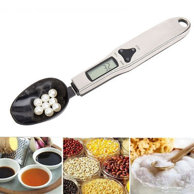 Digital LCD 500g/0.1g Gram Kitchen Lab Medical Spoon Scale Volume Food Weight