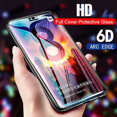 6D Tempered Glass Protect Screen Protector For Xiaomi MI 8 SE 5 Redmi Note 6 Pro