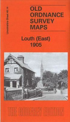 Old Ordnance Survey Map Louth East 1905 Holy Trinity Church Wragby Junction