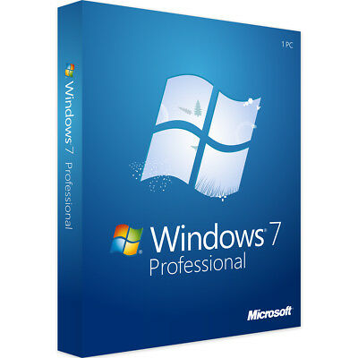 Windows 7 Professional 32 & 64 Bit - Neu & Original - Vollversion Key - Download