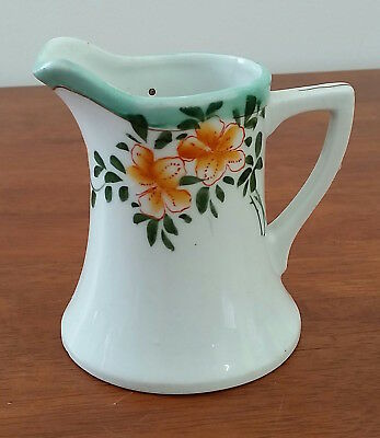 Vintage Mid Century Made in JAPAN Pottery YELLOW Floral Art Deco Style Milk JUG