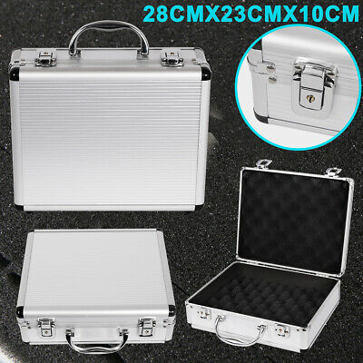 Hard Aluminium Flight Case Gun Storage Box Tool Camera Foam Lockable Carry Large