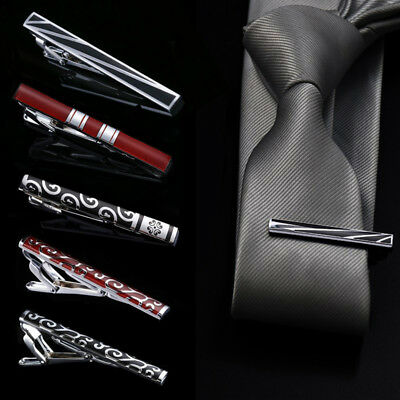 Mens Classic Necktie Tie Bar Clasp Clip Clamp Pin Wedding Party Clothes Decor