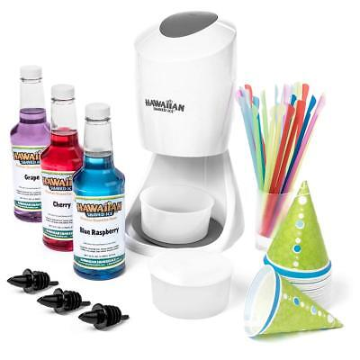 Snow Cone Machine For Kids Shaved Ice Maker Crushed Grinder Flavoring Syrup Cups