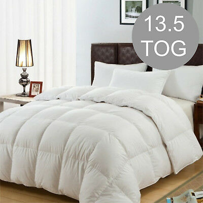 Duck Feather & Down Duvet / Quilt Bedding - Single Size 13.5 TOG Thick Quality