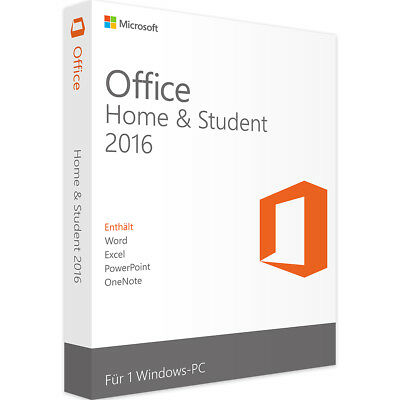 Microsoft Office Home and Student 2016 - Neu & Original - Vollversion - Download