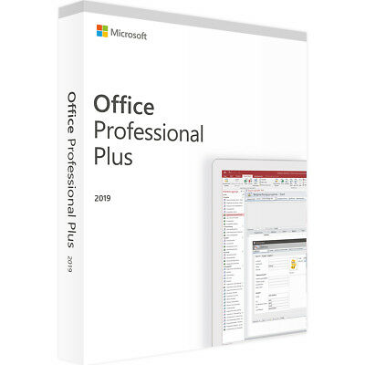 Microsoft Office 2019 Professional Plus - Neu & Original - Vollversion -Download