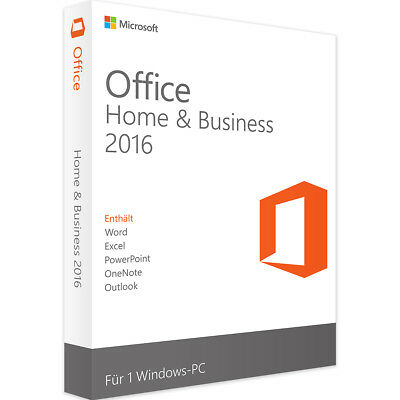 Microsoft Office Home and Business 2016 - Neu & Original Vollversion - Download