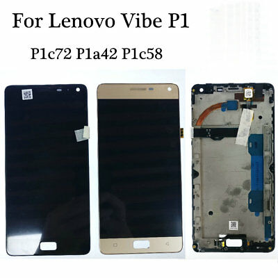 5.5'' For Lenovo Vibe P1 Replacement LCD Display Touch Screen Digitizer + Frame