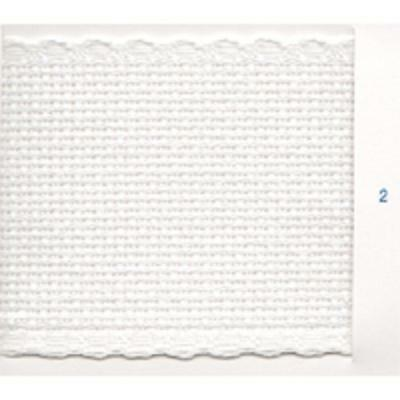 16 Count Aida Band -30 mm wide White with a White Edging -50 cm long