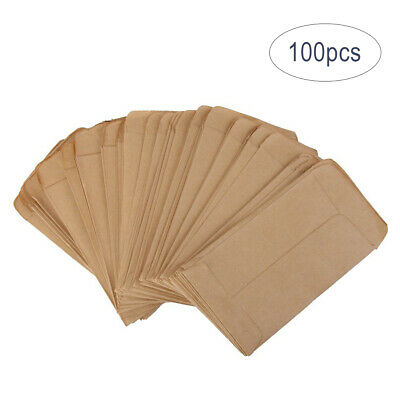 100 PCS Seed Envelopes Kraft Seed Paper Bags Mini Coin Packets Envelopes 6*10cm