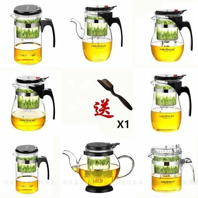 Various Kamjove Glass Kungfu Teapot PiaoYi Bei Press AUTO-OPEN Art Tea Cup