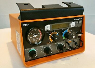 Drager Oxylog 2000 Portable Ventilator