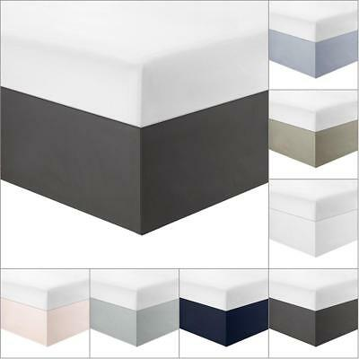 AU! Solid Color Stretch Valance Bed Skirt Wrap TWIN/FULL/QUEEN/KING Size Valance