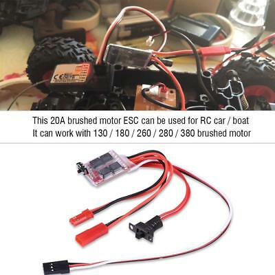 20A Brushed Motor ESC Electronic Speed Controller w/ Brakes for RC Car/Boat/Tank