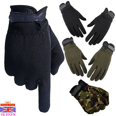 Mens Tactical Military Gloves Anti-Slip Full Finger Outdoor Riding Sports Gloves