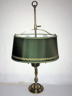 Bouillotte Lampe Tischlampe Messing Leuchte french Empire 3 flammig