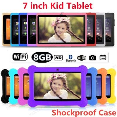 """7""""inch Google Android4.4 Quad Core WiFi Dual Camera 8GB Kids Tablet PC Xmas Gift"""