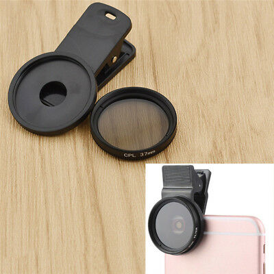 37MM CPL Filter Circular Polarizing Lens for iPhone 7 6S Plus Android Black