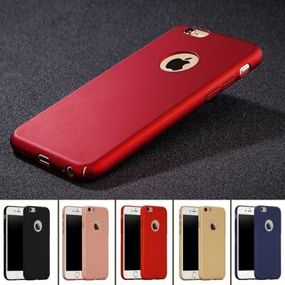 Protective 360 Shockproof Case Cover for iPhone 6/S Front and Back+TemperedGlass