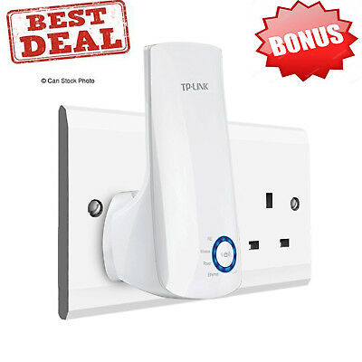 WiFi Signal Booster TP-Link Range Extender Adapter Fast Wireless Connection New