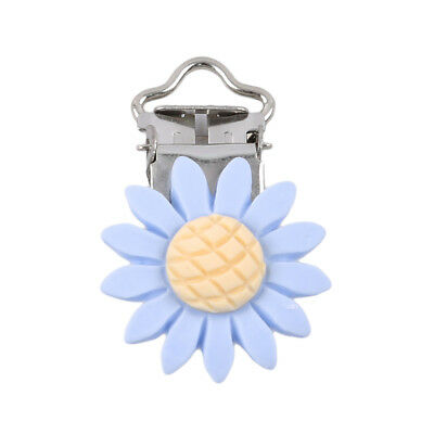 Sunflower Shape Baby Pacifier Clip Holder Infant Dummy Clips For Baby Clasps LH