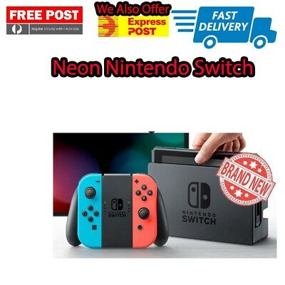 Neon Blue Neon Red Nintendo Switch Console Neon Blue Neon Red Joy-Con