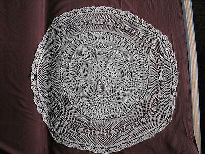 #1221  Beautiful Vintage Hand Made Tablecloth  80cm/(31.5'')