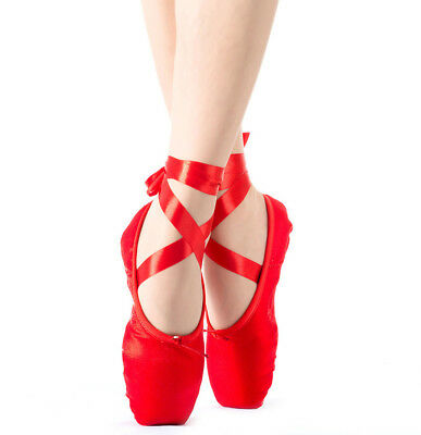 Ballet Dance Toe Shoes Professional Lady Girl Children's Satin Pointe Shoes Gift