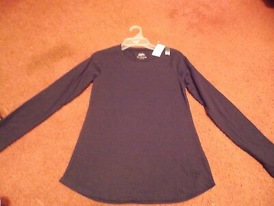 justice --  girls size 8 long sleeve black top--nwt