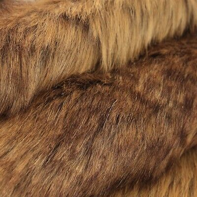 Luxury Long Haired Pile Faux Fur Fabric Flutty Upholstery DIY Furry Cloth Sewing