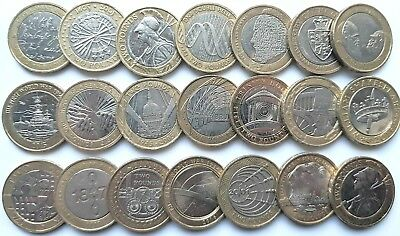 £2 Two Pound Commemorative Coin Shakespeare WW1 Dickens Darwin Brunel Locomotive