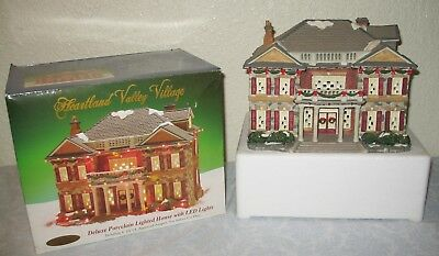 Hard to find Heartland Valley Christmas Village LED Lighted House Building