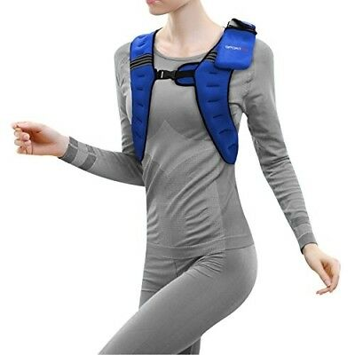 Sporteq Weighted Vest 6Kg Weight Loss Training Running Jacket Crossfit Body Work
