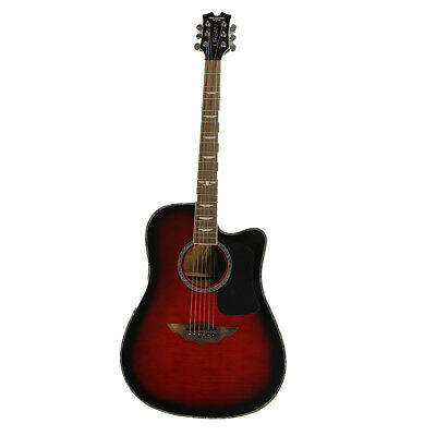 Keith Urban Player- Right Hand Acoustic/Electric Guitar + Gig Bag (Crimson)
