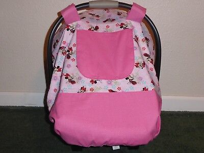 **MINNIE MOUSE**Fitted w/peekaboo opening Handmade Car Seat Canopy-Cover