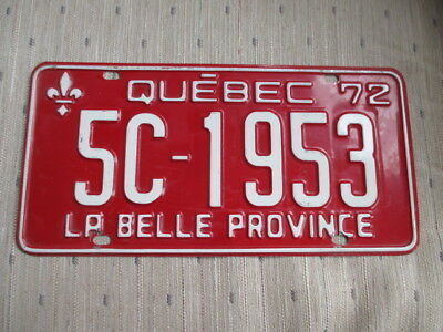 1972 Quebec License Plate - 5C 1953 - Embossed - Canada - Montreal