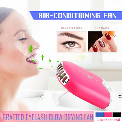 Mini Fan Air Conditioning Blower Glue Grafted Eyelashes Dryer Eyelash Extension