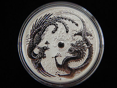 2017 1 oz. .999 Silver Australian DRAGON and PHOENIX Coin - Limited Mintage 50K
