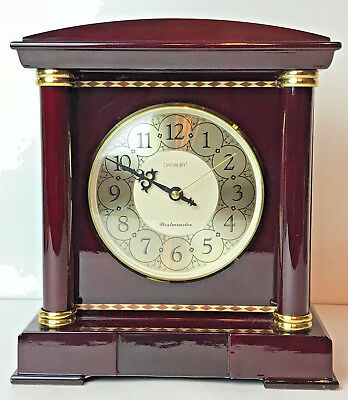DANBURY Westminister Chime Mahogany Mantle Clock